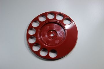 GPO Lacquer Red Rotary Telephone Finger Dial